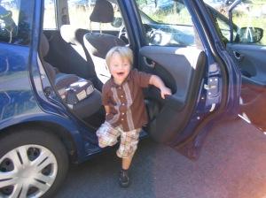 Thorin's first day of kindergarten