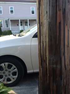 Pole and car