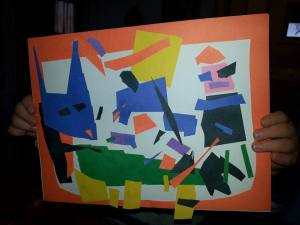 Matisse inspired:  Walt and the Robot